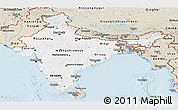 Classic Style Panoramic Map of India