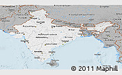 Gray Panoramic Map of India