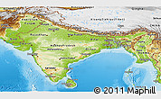 Physical Panoramic Map of India