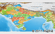 Political Panoramic Map of India, physical outside