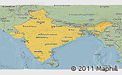 Savanna Style Panoramic Map of India