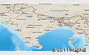 Shaded Relief Panoramic Map of India