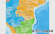 Political Shades 3D Map of Pondicherry