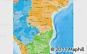 Political Shades Map of Pondicherry