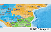 Political Shades Panoramic Map of Pondicherry