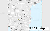 Silver Style Simple Map of Pondicherry