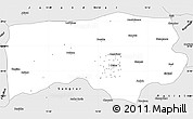Silver Style Simple Map of Ludhiana