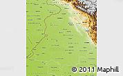 Physical Map of Punjab