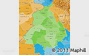 Political Shades Map of Punjab