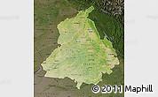 Satellite Map of Punjab, darken