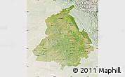 Satellite Map of Punjab, lighten