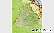 Satellite Map of Punjab, physical outside
