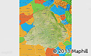 Satellite Map of Punjab, political outside