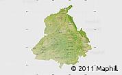 Satellite Map of Punjab, single color outside