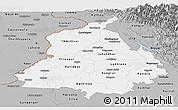 Gray Panoramic Map of Punjab