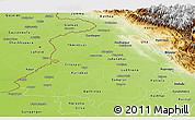 Physical Panoramic Map of Punjab