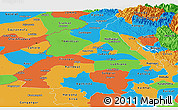 Political Panoramic Map of Punjab