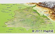 Satellite Panoramic Map of Punjab, physical outside