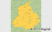 Savanna Style Simple Map of Punjab