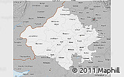 Gray 3D Map of Rajasthan