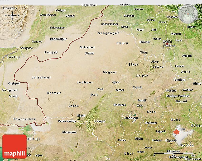 Satellite 3d Map Of Rajasthan