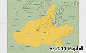 Savanna Style 3D Map of Jaipur