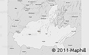 Silver Style 3D Map of Jaipur