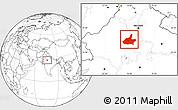 Blank Location Map of Jaipur