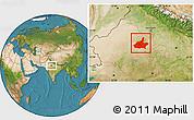 Satellite Location Map of Jaipur