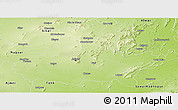 Physical Panoramic Map of Jaipur