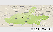 Physical Panoramic Map of Jaipur, shaded relief outside