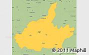 Savanna Style Simple Map of Jaipur