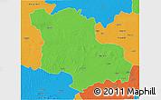 Political 3D Map of Jodhpur
