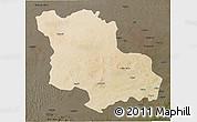 Satellite 3D Map of Jodhpur, darken