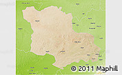 Satellite 3D Map of Jodhpur, physical outside