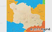 Satellite 3D Map of Jodhpur, political outside
