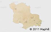 Satellite 3D Map of Jodhpur, single color outside