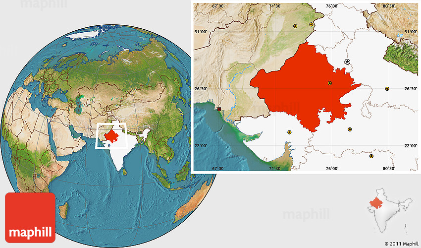 Satellite location map of rajasthan highlighted country gumiabroncs Gallery