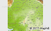 Physical Map of Rajasthan