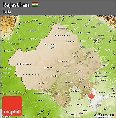 Free satellite map of rajasthan physical outside satellite map of rajasthan physical outside altavistaventures Gallery