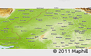 Physical Panoramic Map of Rajasthan