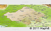 Satellite Panoramic Map of Rajasthan, physical outside