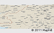 Shaded Relief Panoramic Map of Rajasthan