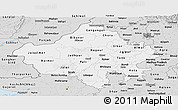 Silver Style Panoramic Map of Rajasthan