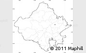 Blank Simple Map of Rajasthan, cropped outside, no labels
