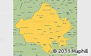 Savanna Style Simple Map of Rajasthan