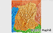 Political Shades 3D Map of Sikkim