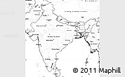 Blank Simple Map of India