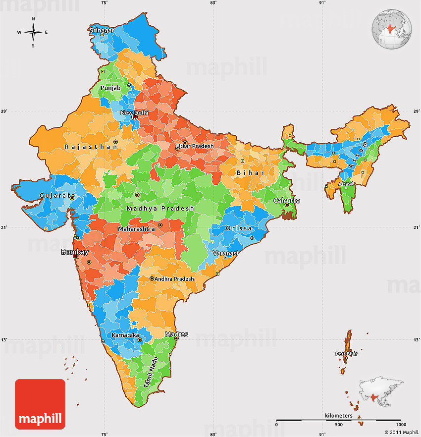 Political Simple Map of India, cropped outside on maps of only india, jharkhand india, states of india, world map india, major rivers of india, maps for india, where's india, political map government, varanasi india, leader of india, northern region of india, political world map, atlas of india, geography of india, bangalore india, north india, map showing india, political map kerala, provinces of india, nashik india,
