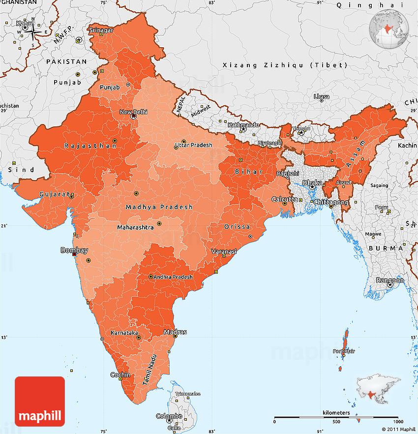Political Shades Simple Map of India, single color outside, borders on political map kerala, atlas of india, geography of india, political map government, political world map, map showing india, major rivers of india, north india, varanasi india, northern region of india, nashik india, maps of only india, maps for india, world map india, jharkhand india, provinces of india, leader of india, states of india, bangalore india, where's india,